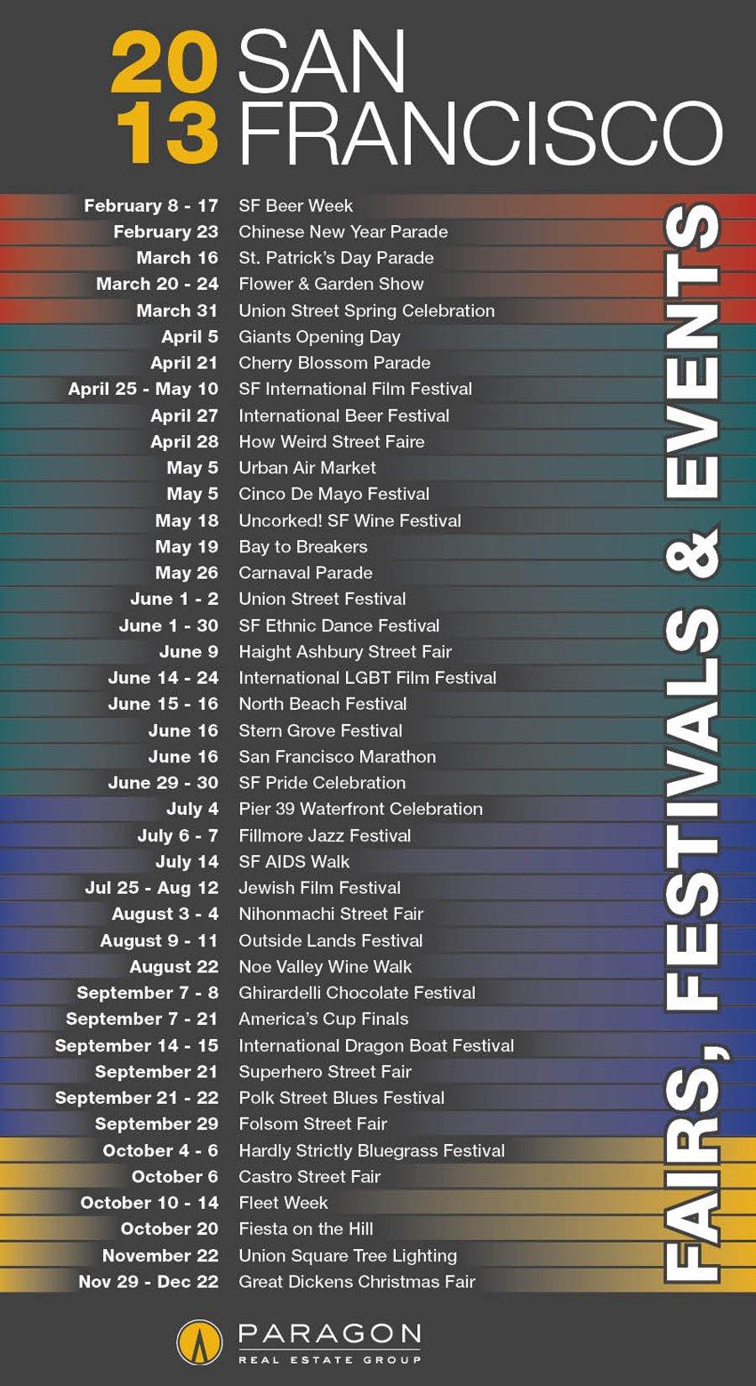 Sf Events Calendar.2013 Sf Events Calendar